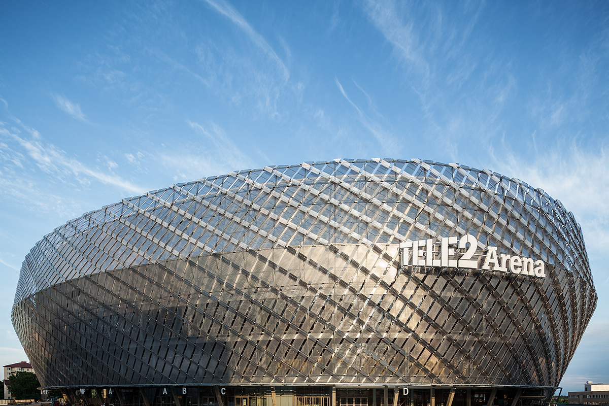Exterior image of the Tele2 Arena during the day