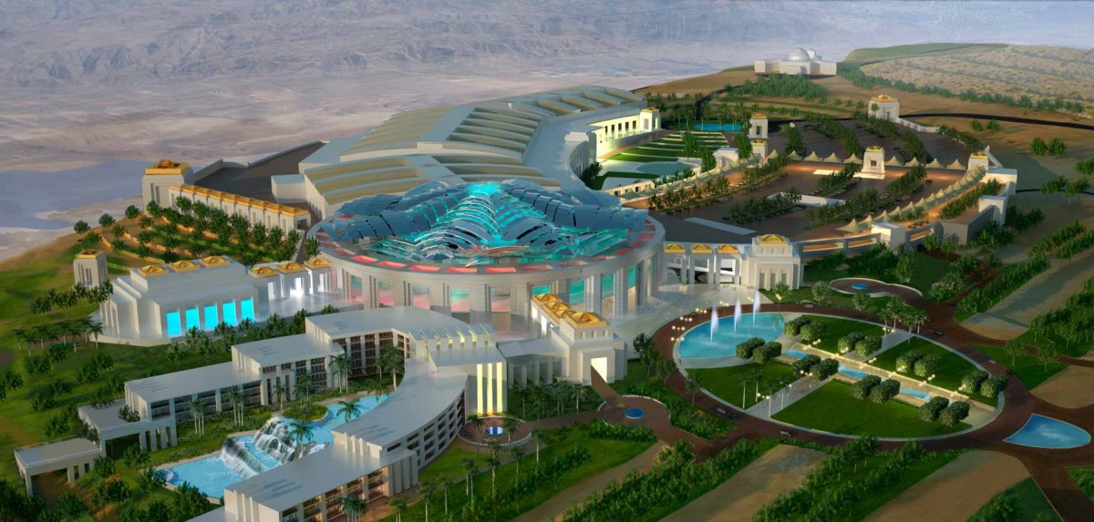Aerial image of Oman Convention & Exhibition Centre