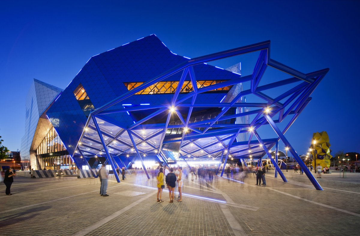 Exterior Image of Perth Arena at night