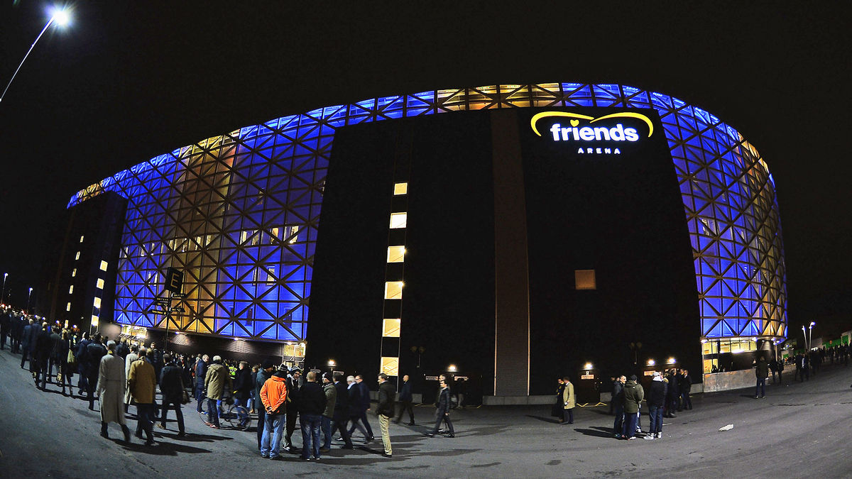 Exterior image of Friends Arena