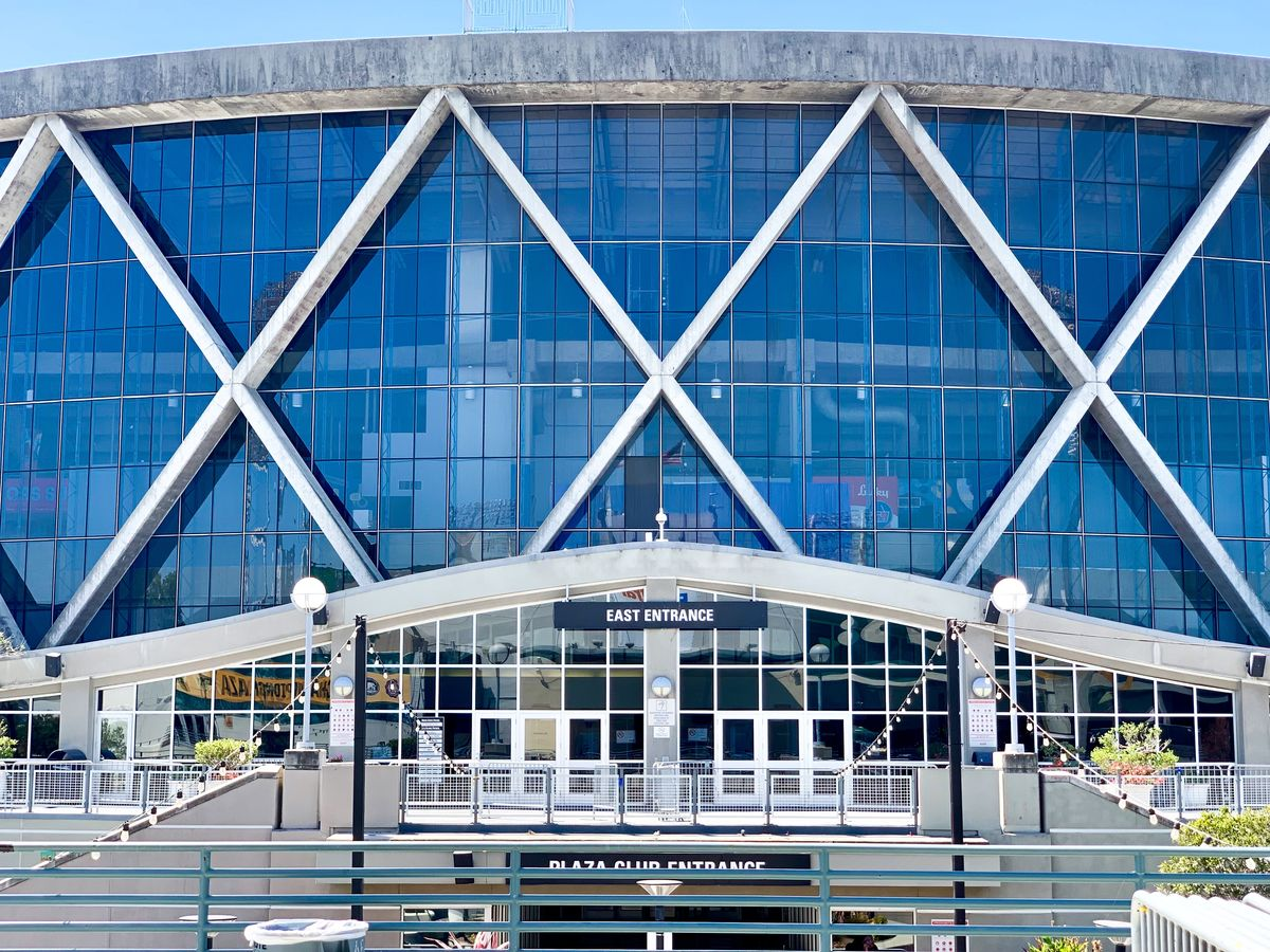 Exterior image of Oakland Arena