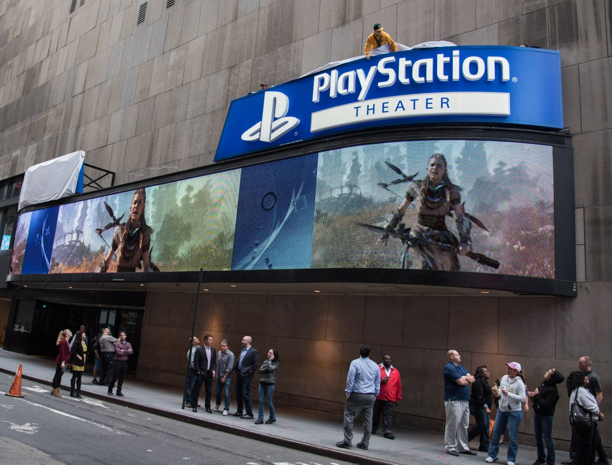 Exterior image of Playstation Theatre from the street during the day