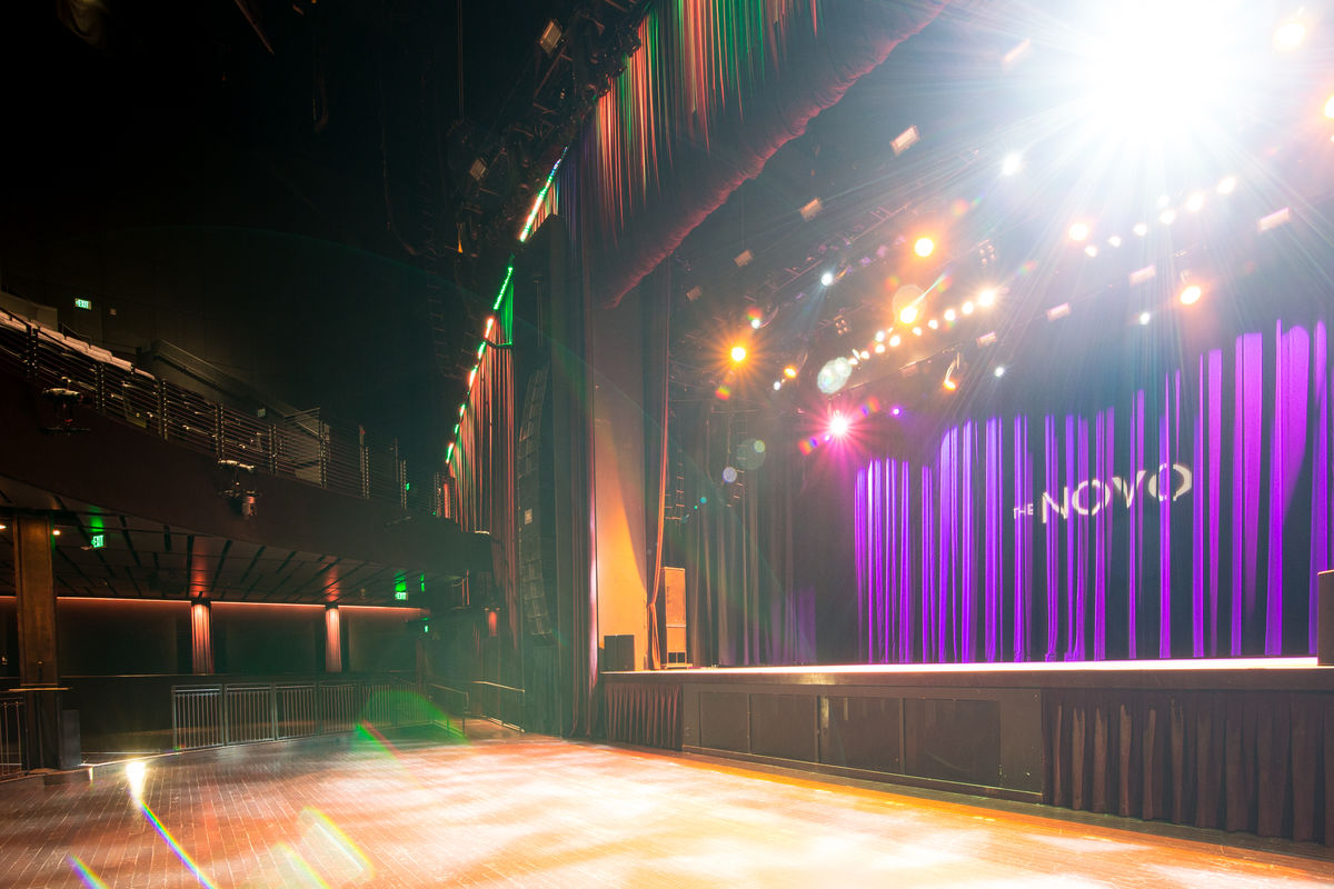 Interior image of the Novo with no guests