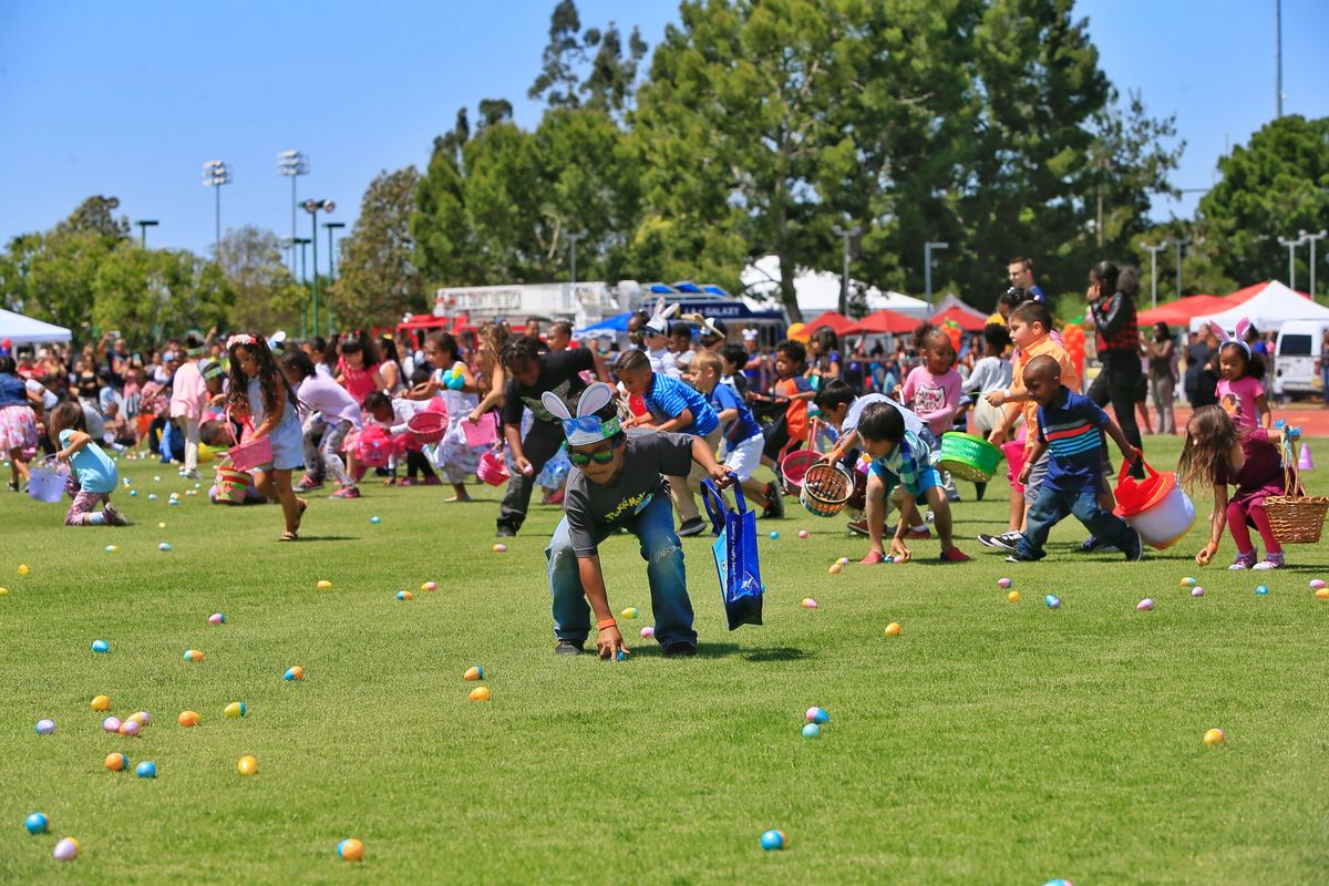 More than 1,000 children and families participate in AEG's StubHub Center Foundation and LA Galaxy Foundation's 11th Annual Easter Egg Hunt at StubHub Center in Carson, Calif. on April 14, 2017.