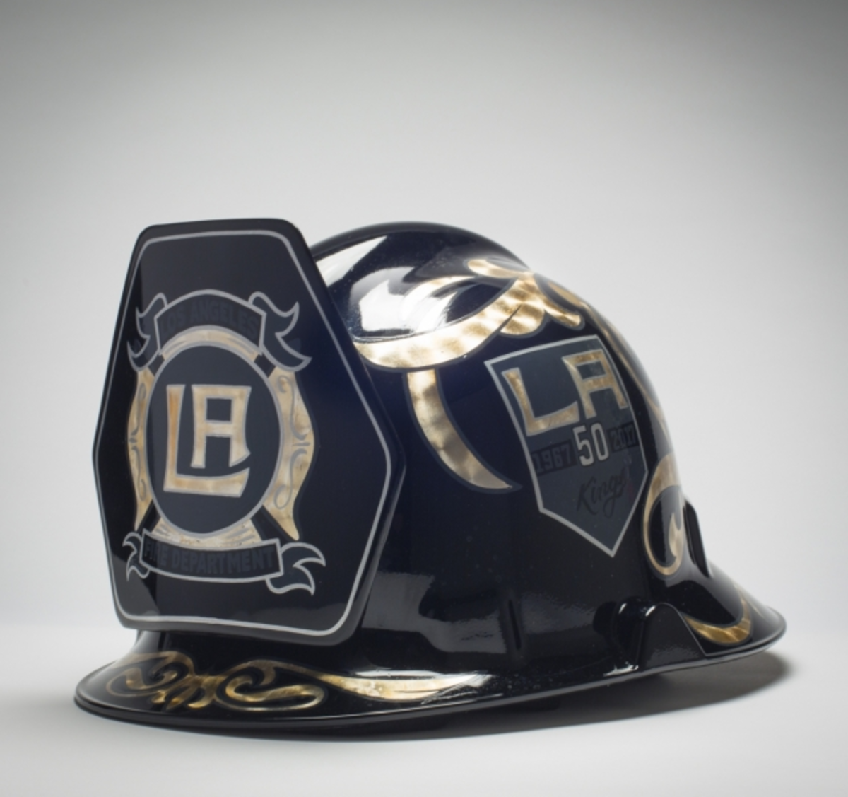 The Kings Care Foundation will auction off the signed LA Kings fire helmet as part of LA Kings Firefighter Appreciation Night at STAPLES Center on January 6, 2018. Proceeds to benefit the Los Angeles Fire Department Foundation.