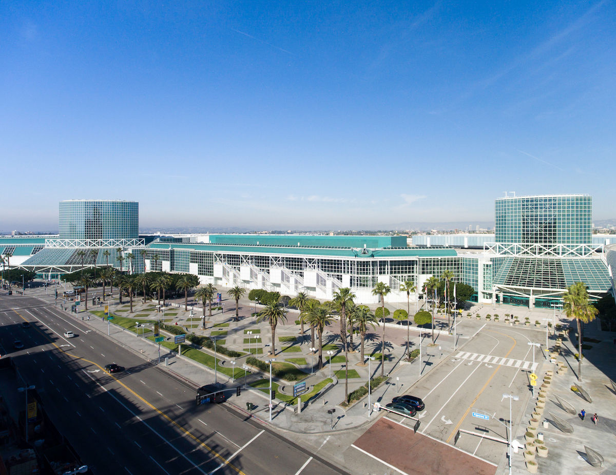 The Los Angeles Convention Center in downtown Los Angeles.
