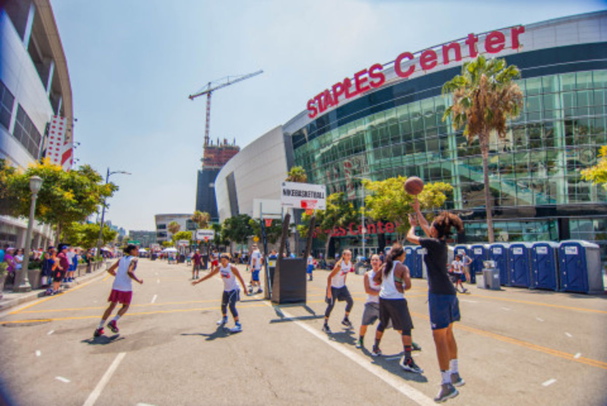 The Ninth Annual Nike Basketball 3ON3 Tournament presented by 24 Hour Fitness brings more than 1,500 teams to L.A. LIVE for California's largest 3-on-3 street basketball tournament on August 4-6, 2017.