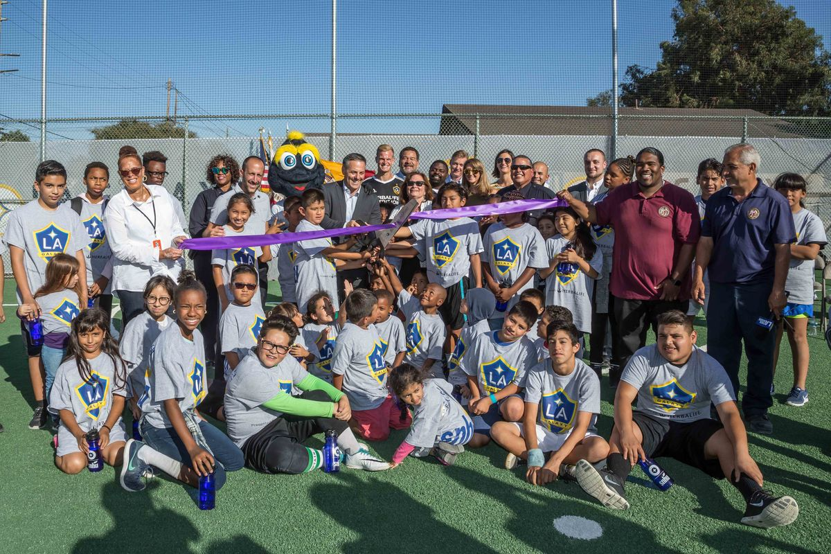 AEG's LA Galaxy Foundation, in partnership with Southern New Hampshire University (SNHU), unveil a brand-new community soccer field in Watts, Los Angeles at 109th Street Recreation Center on Wednesday, October 11, 2017.