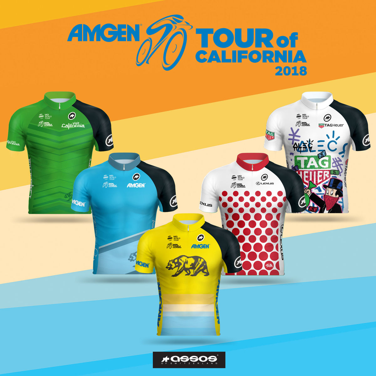 2018 Amgen Tour of California Jerseys
