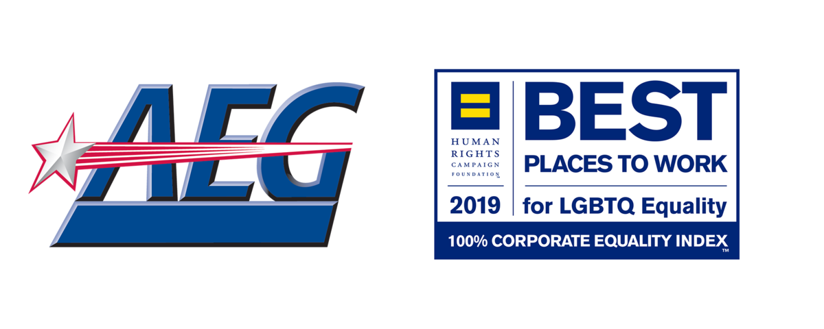 AEG and Human Rights Campaign Best Places to Work Logos