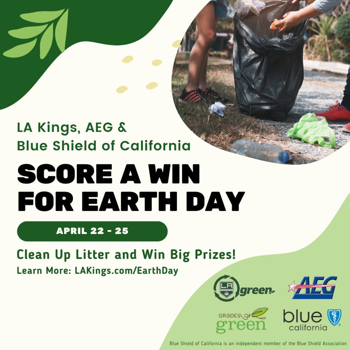 AEG and LA Kings Team Up with Blue Shield of California and Grades of Green to Send Litter to the Penalty Box for Earth Week