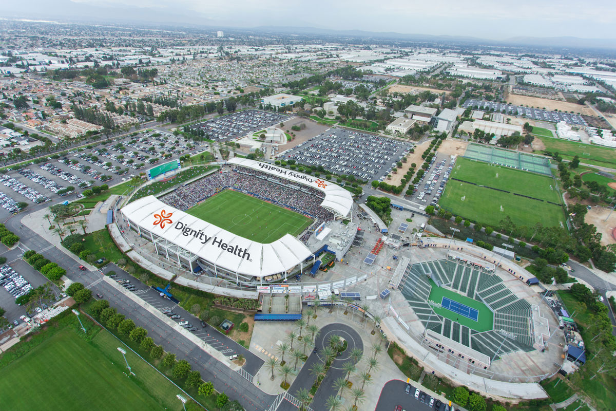 AEG announces a new partnership with Dignity Health to rename LA Galaxy's home stadium Dignity Health Sports Park. (Photo: Busin