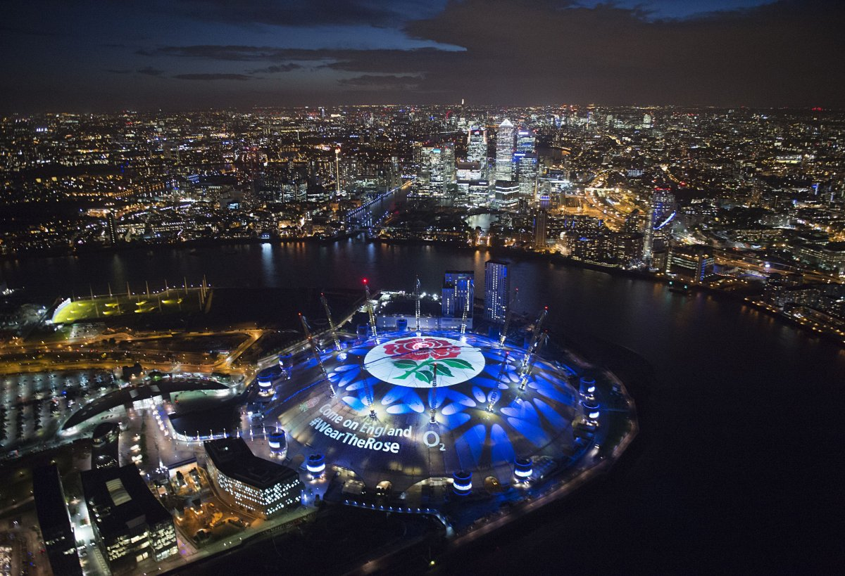Overhead image of the O2 in London