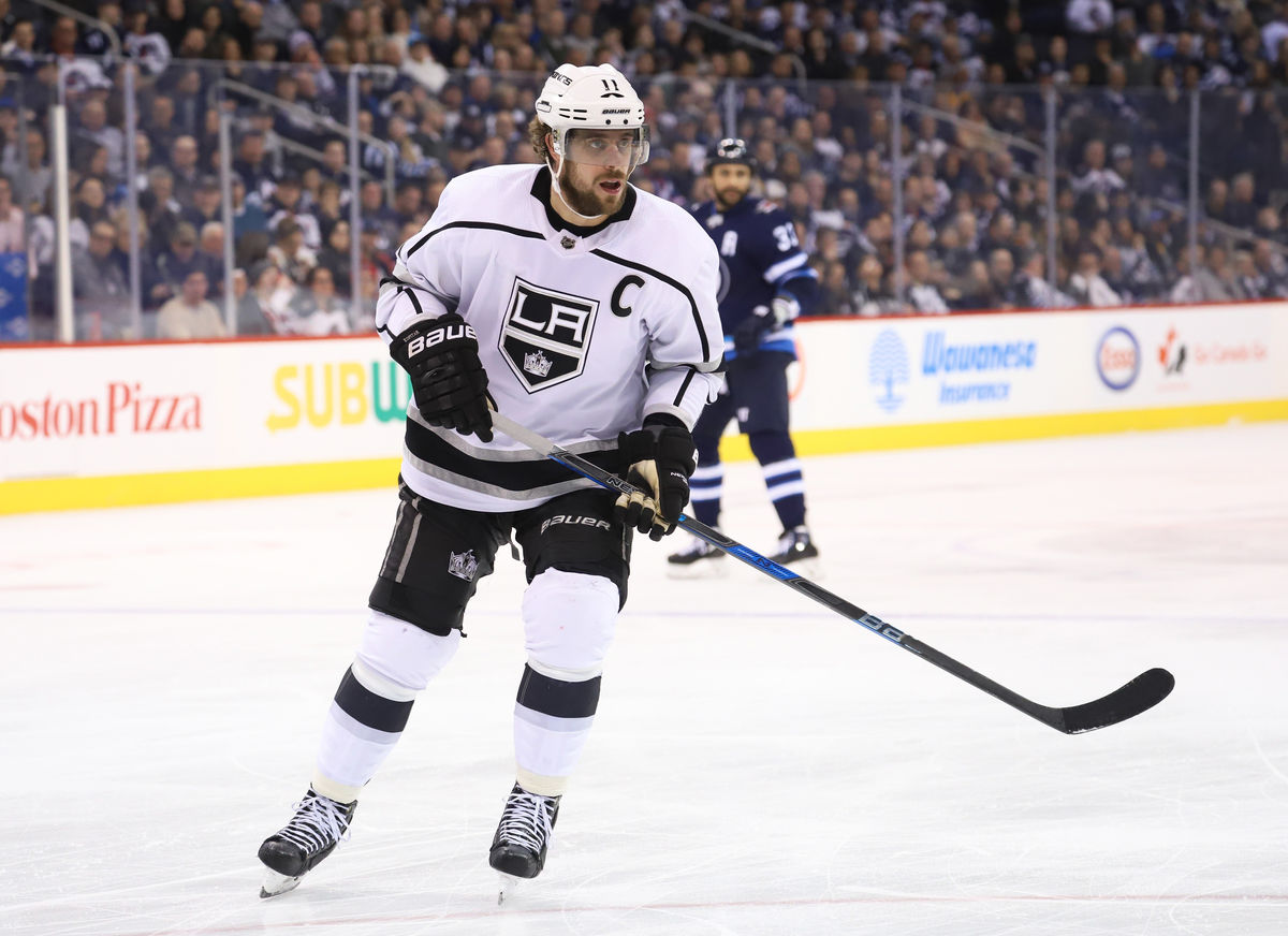 Anze Kopitar on the ice