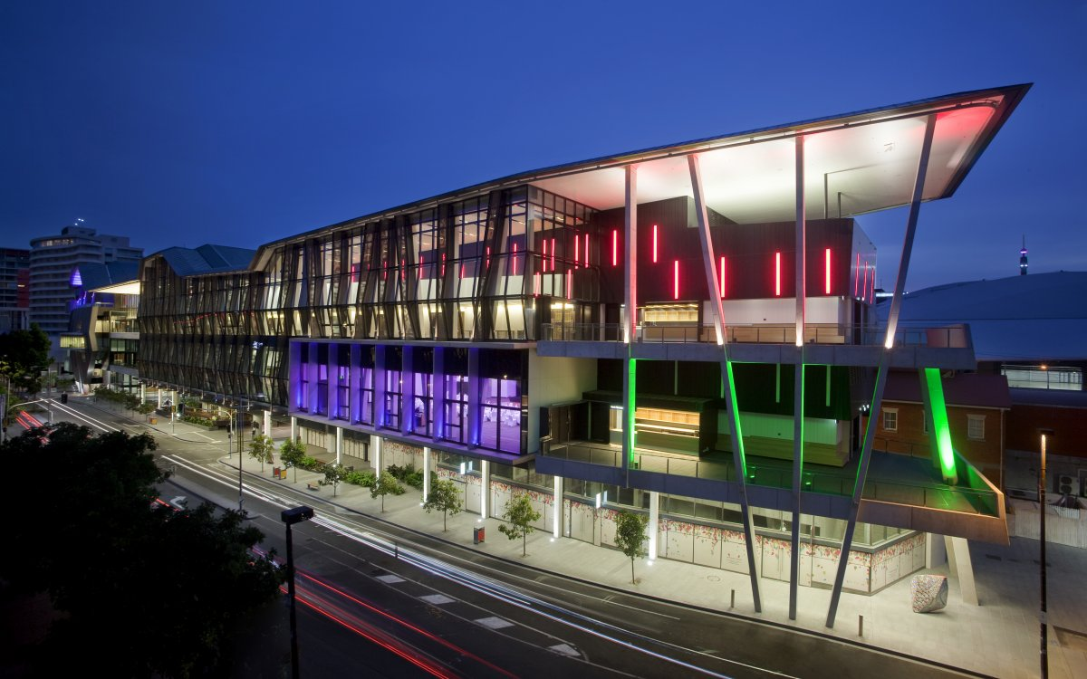Exterior Image of Brisbane Convention & Exhibition Center at night
