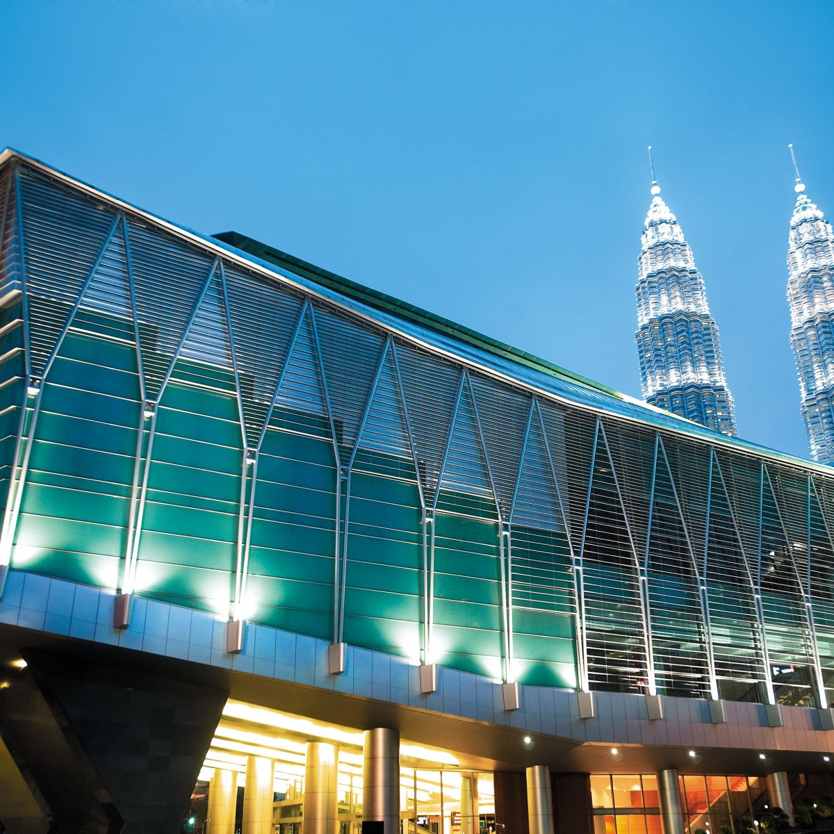 Exterior Image of Kuala Lumpur Convention Center at night