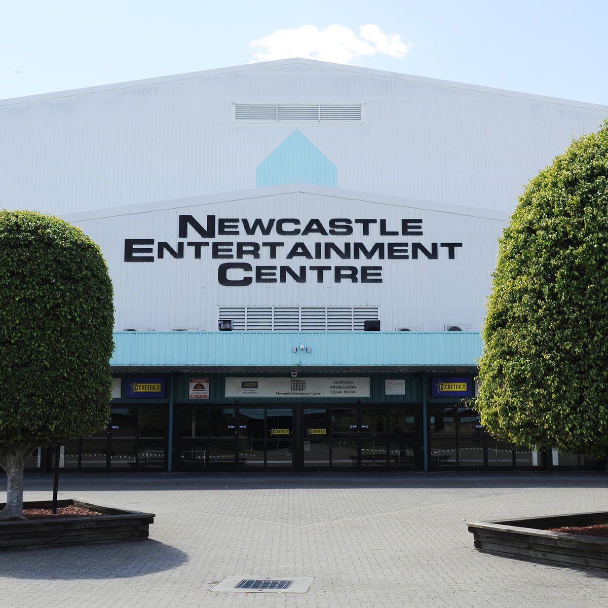 Exterior image of Newcastle Entertainment Centre