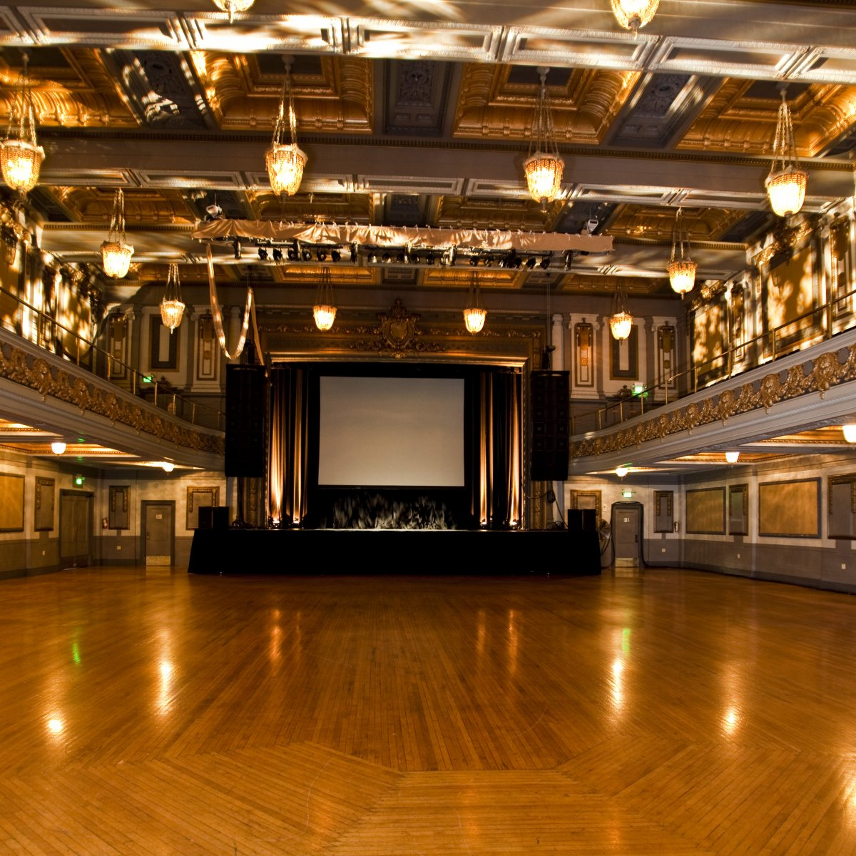 Interior image of the Regency ballroom without guests