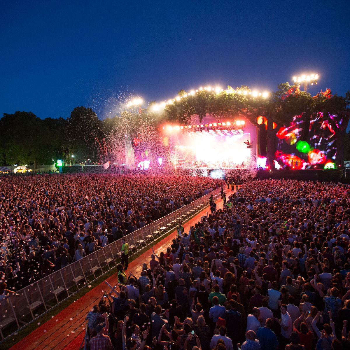 Image of artist performing on stage at BST Hyde Park